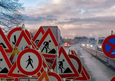 Verkehrsabsicherung Beispiel